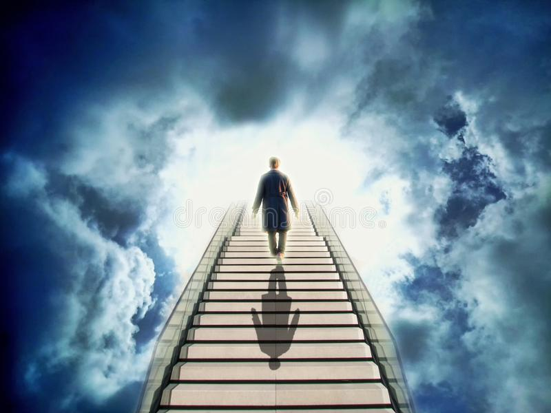 Stairs to heaven stock photos