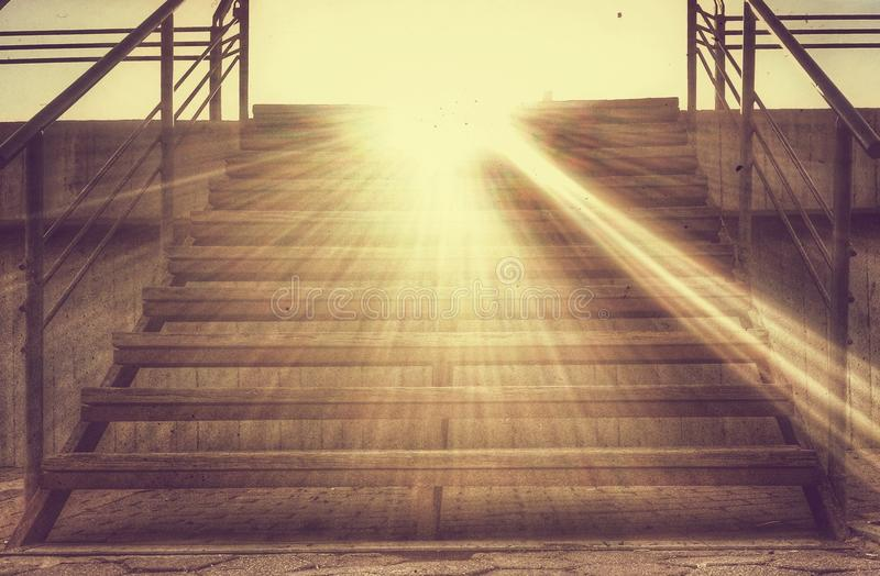 Stairs to heaven stock photography