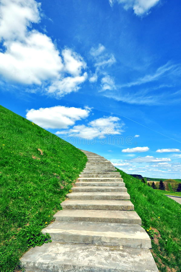 Download Stairs to heaven stock photo. Image of grass, clouds - 40349704