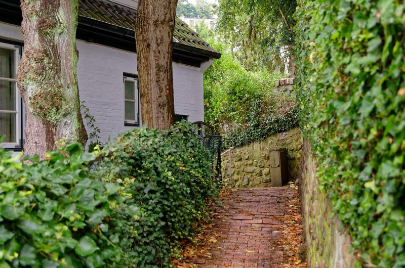 Stairs to a house in so called Treppenviertel lit. stairs quarter in Hamburg, Germany. Stairs to a house in so called Treppenviertel lit. stairs quarter in stock image