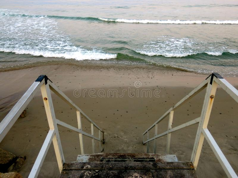 Stairs to the Ocean stock image