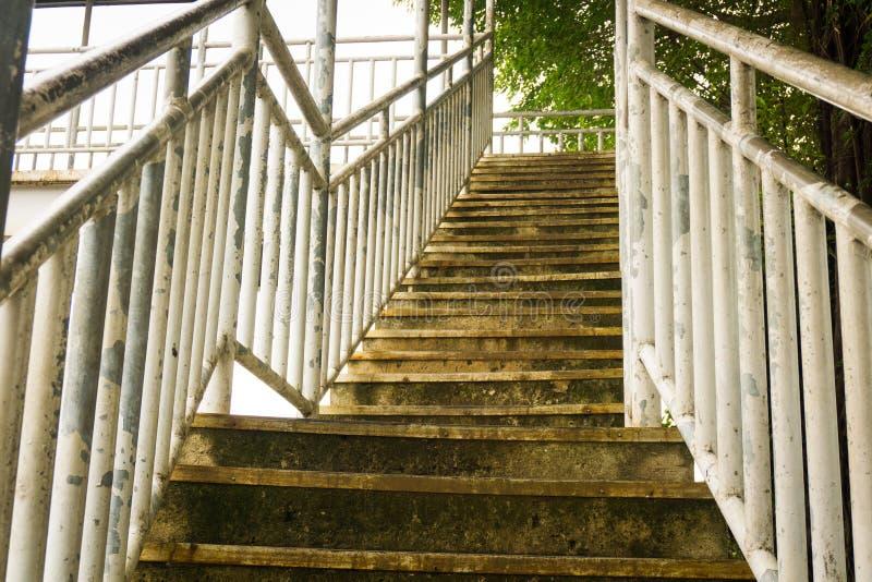 Stairs to pedestrian bridge or overpass photo taken in Depok Indonesia. Java stock photos