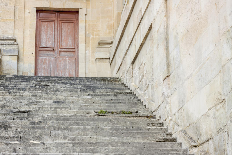 Stairs to Royal hunting castle in Fontainebleau, France. Stairs to Royal hunting castle in Fontainebleau - France stock photos