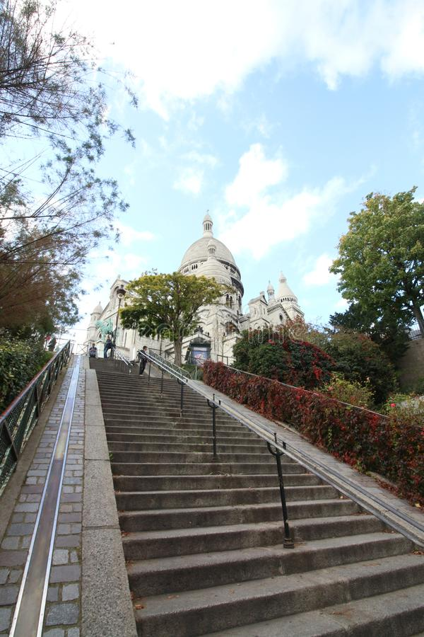 Step to Sacre Coeur Basilica, Paris, France royalty free stock image