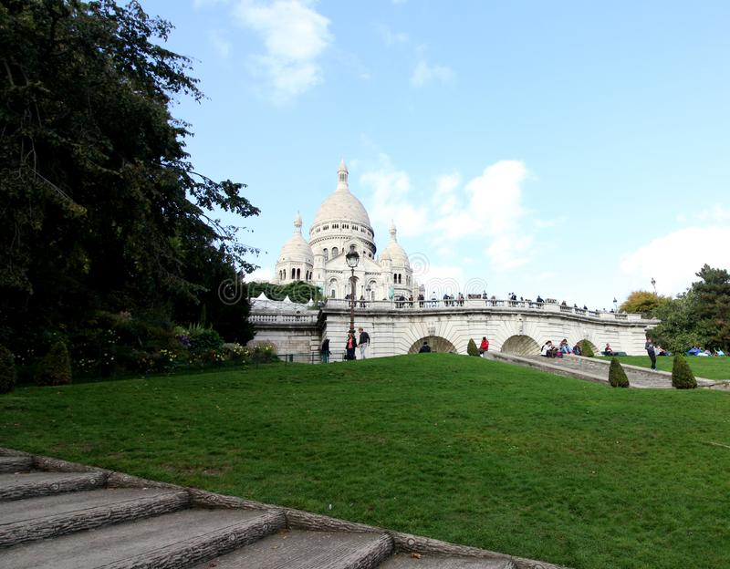 Step to Sacre Coeur Basilica, Paris, France royalty free stock photography