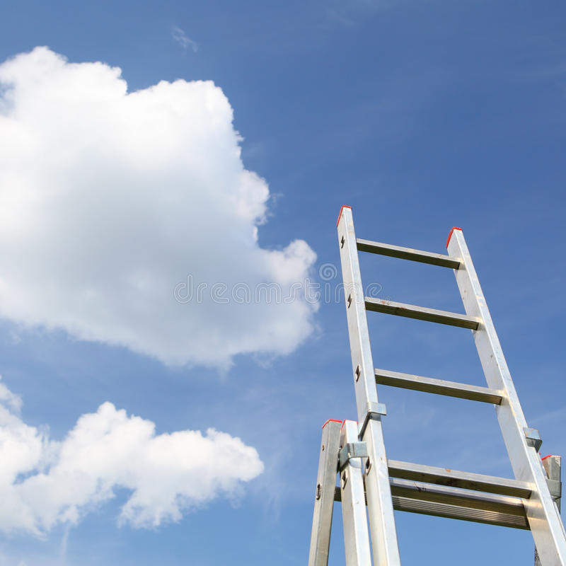 Stairs to the sky stock image