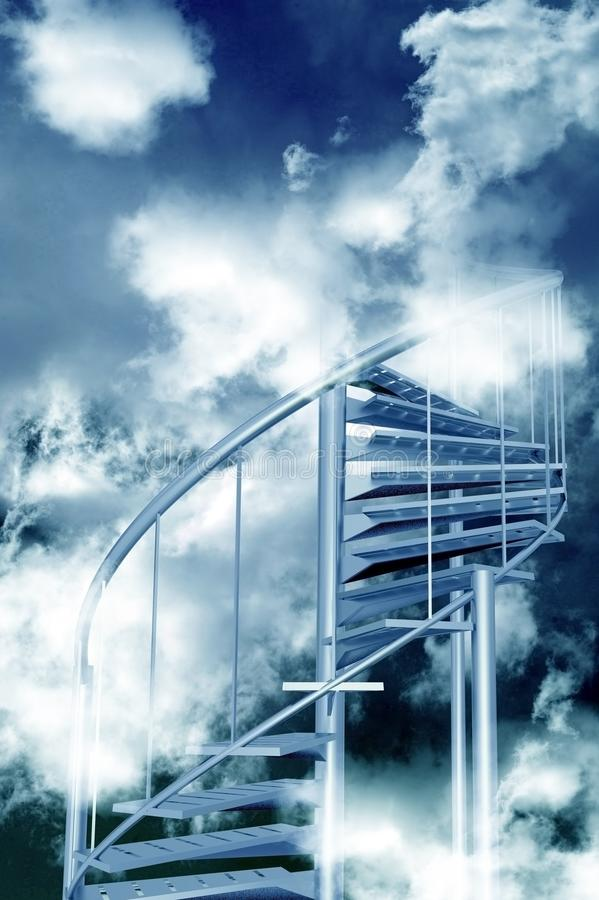 Free Stairs To Sky Royalty Free Stock Images - 24164889