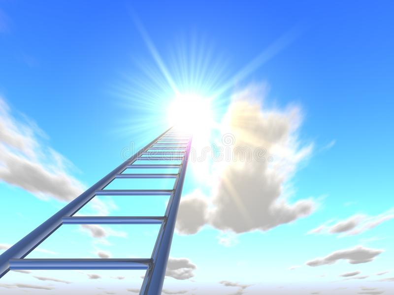 The stairs to the sky 5 stock image