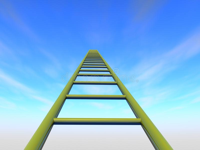 The stairs to the sky stock photography