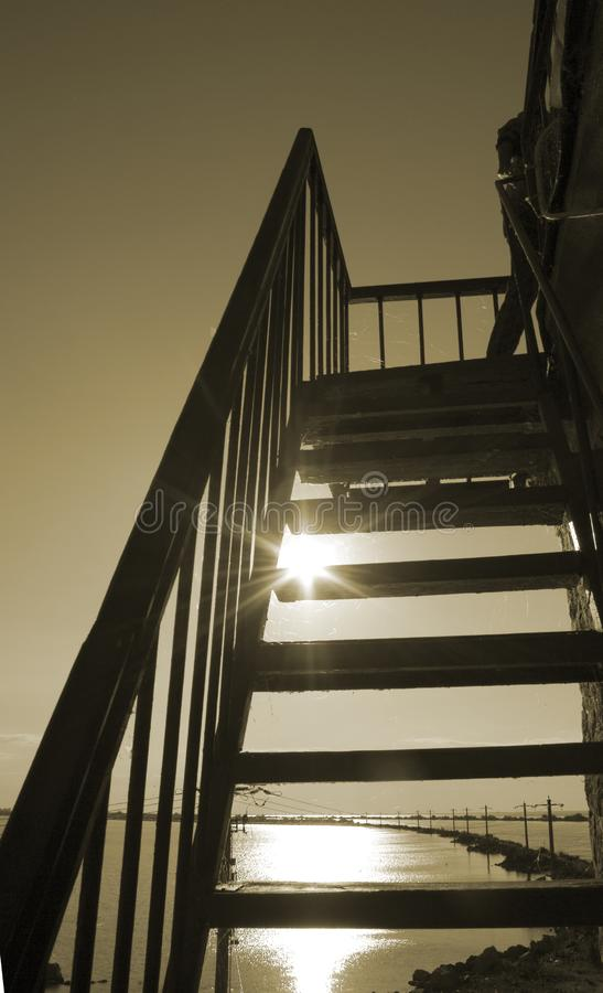 Stairs to the sun stock images