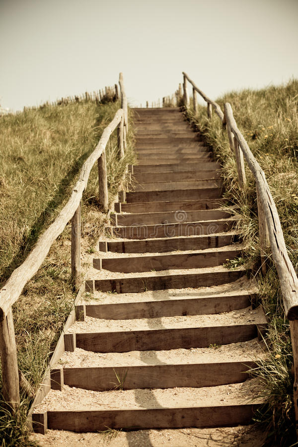 Download Stairs To The Top Of A Dune Stock Image - Image: 27288713