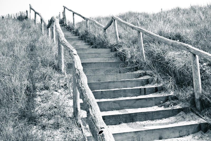 Stairs To The Top Of A Dune Royalty Free Stock Photo