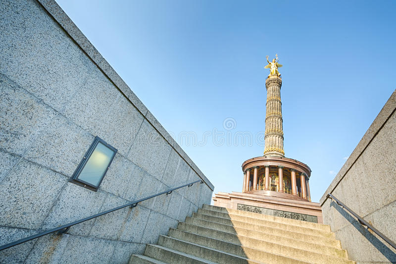 Stairs of a tunnel leading to the Berlin Victory Column stock images