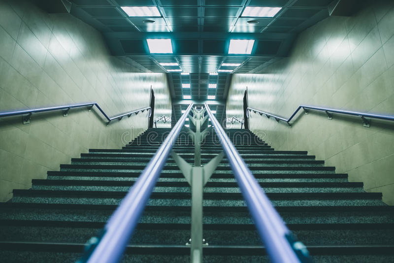 Stairs in an underground station royalty free stock image