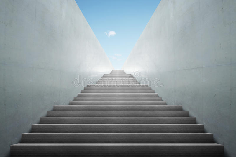 Stairs from underground upward. In a building stock image
