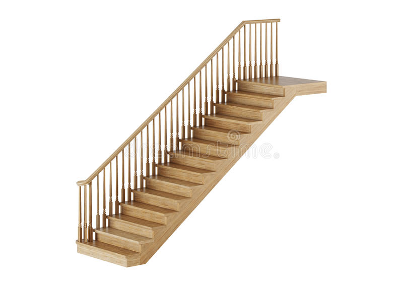 Stairs on white background. royalty free illustration