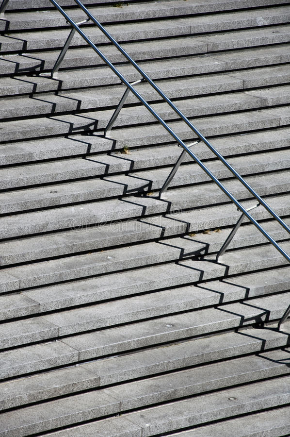 Free Stairs With Stainless Steel Handrails Stock Photography - 23857512