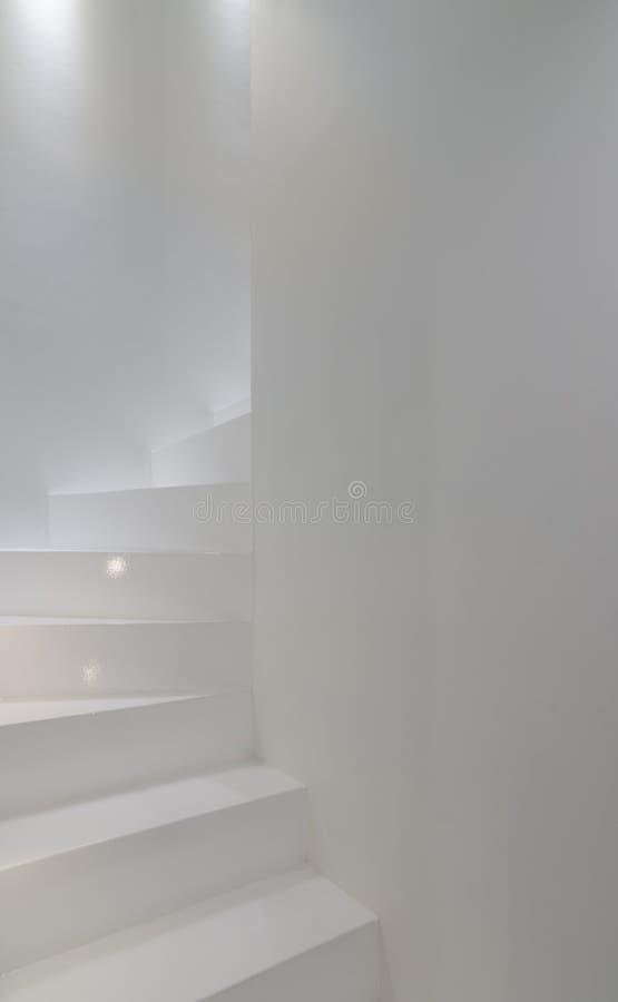 Stairscase branco foto de stock royalty free
