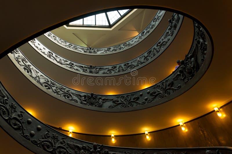 Stairscase de spirale de Vatican. Double hélice photos stock