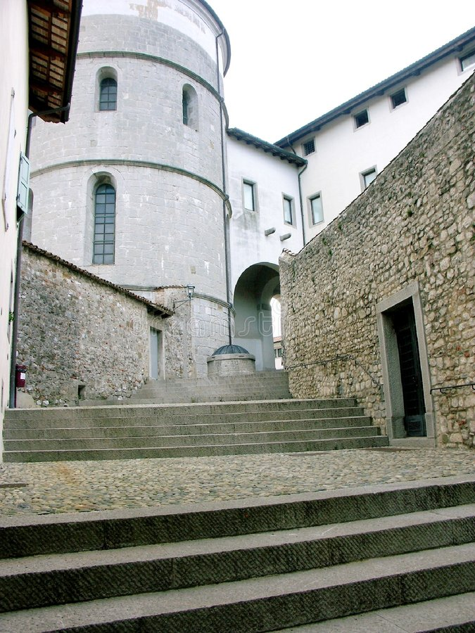 stairway итальянки cividale del friuli стоковое изображение rf