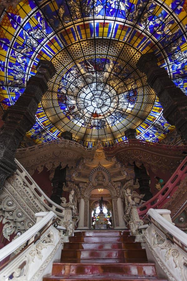 Stairway и стекло пятна стоковое фото