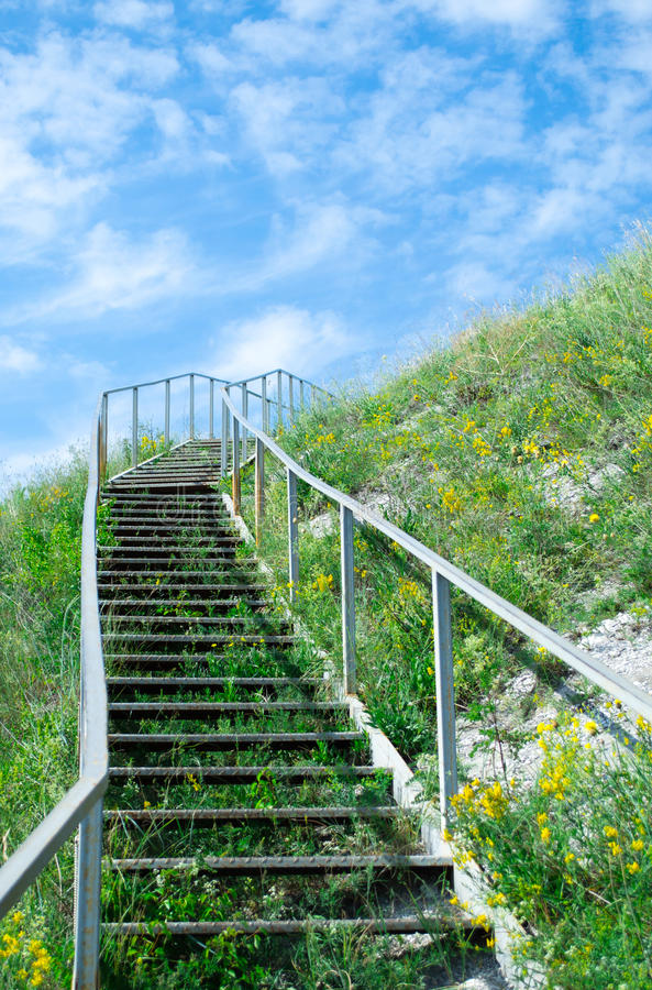 Stairway к небу стоковое изображение rf