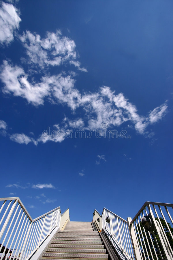 Download Stairway stock photo. Image of down, clouds, cloud, staircase - 1005920