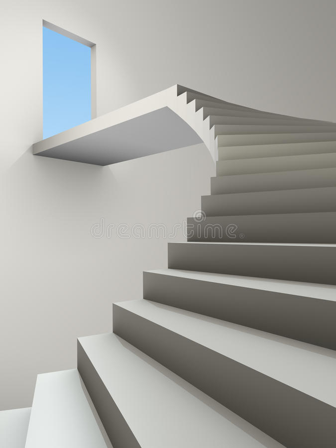 Download Stairway stock illustration. Image of freedom, enter - 14855589