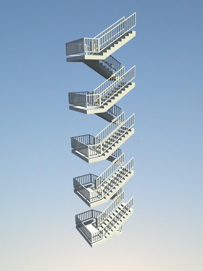 Stairway ilustração stock