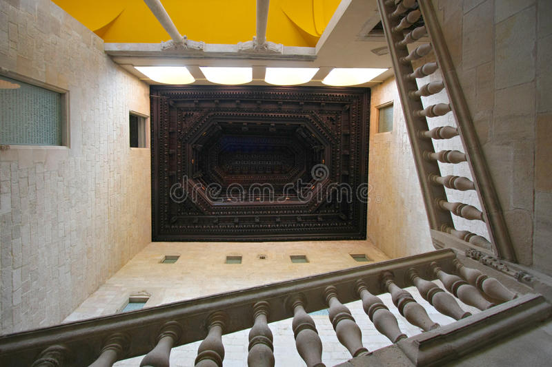 Stairway. Luxurious stone stairway in an old building royalty free stock images
