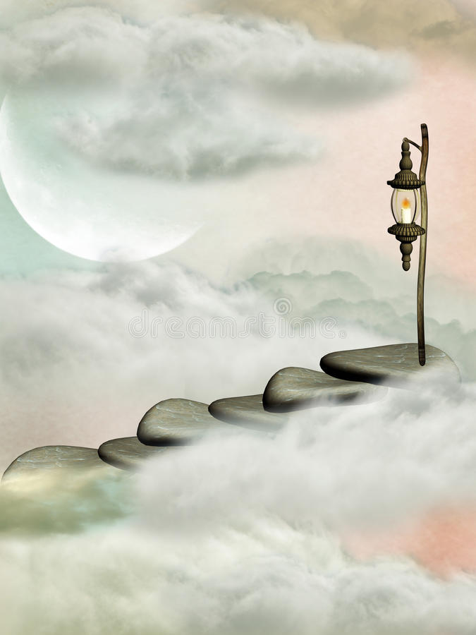 Stairway stock illustration