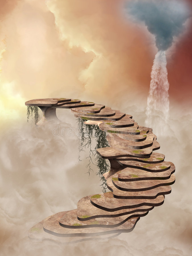 Download Stairway stock illustration. Image of stairway, fantastic - 5665331