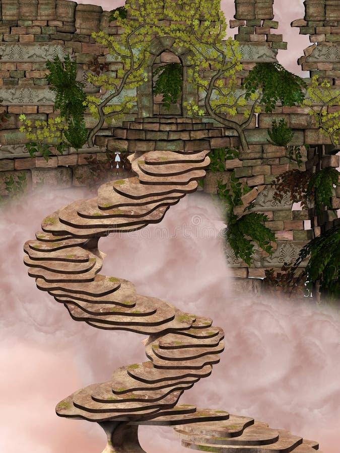 Stairway royalty free illustration