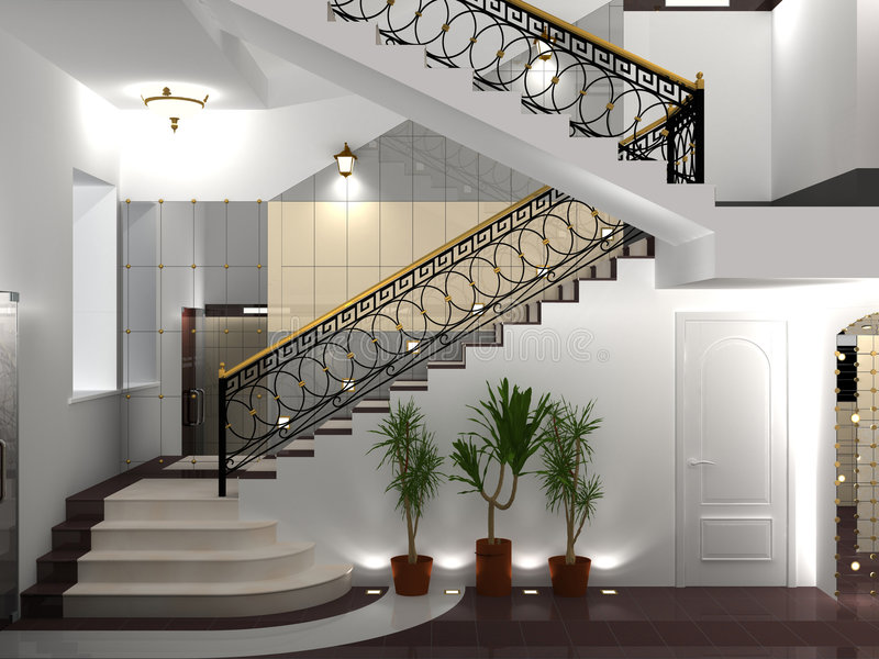 Stairway stock illustration