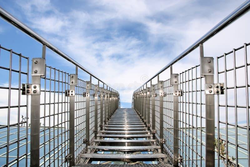 Stairway ao céu. fotografia de stock
