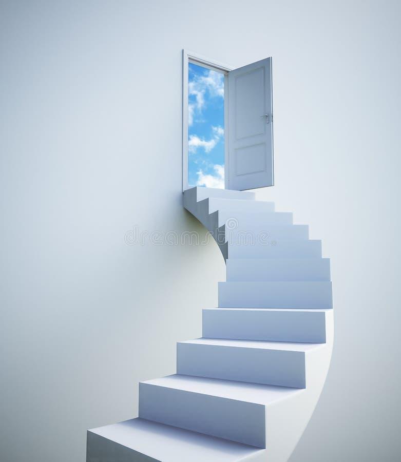 Stairway ao céu ilustração do vetor