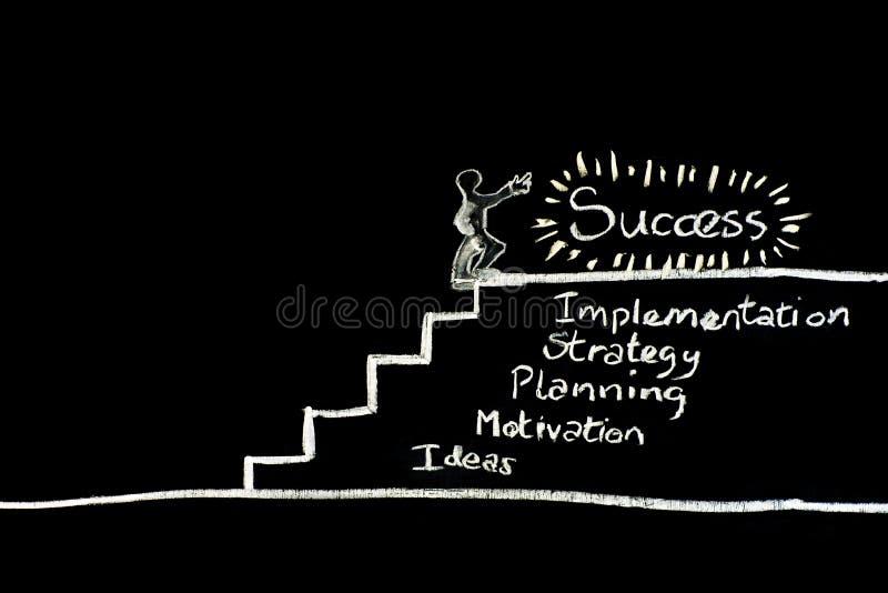 Stairway ao sucesso fotos de stock royalty free