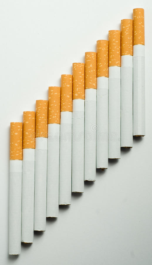 Stairway Of Cigarettes Royalty Free Stock Images