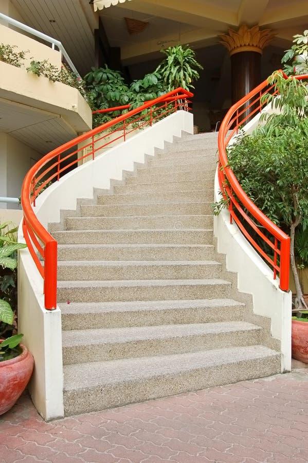 Stairway curvado fotografia de stock royalty free