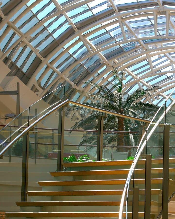 Stairway curvado imagens de stock