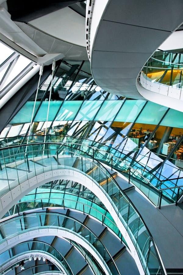 Stairway curvado imagem de stock