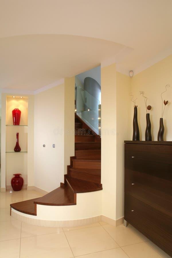 Stairway curvado elegante fotografia de stock