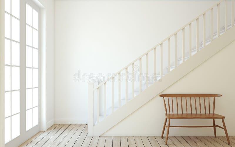 stairway 3d rendono illustrazione vettoriale