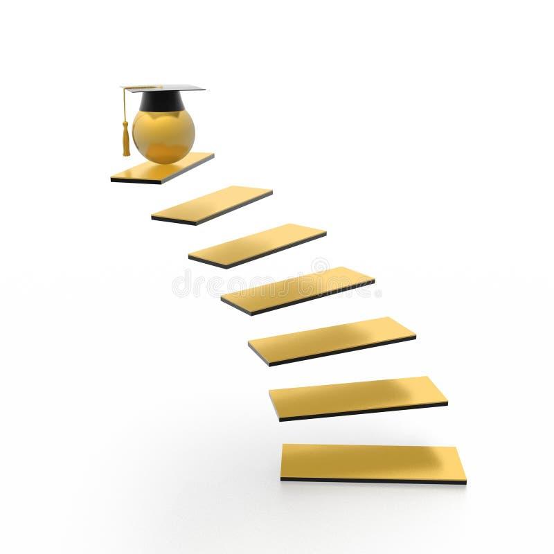 Stairway da instrução ilustração do vetor