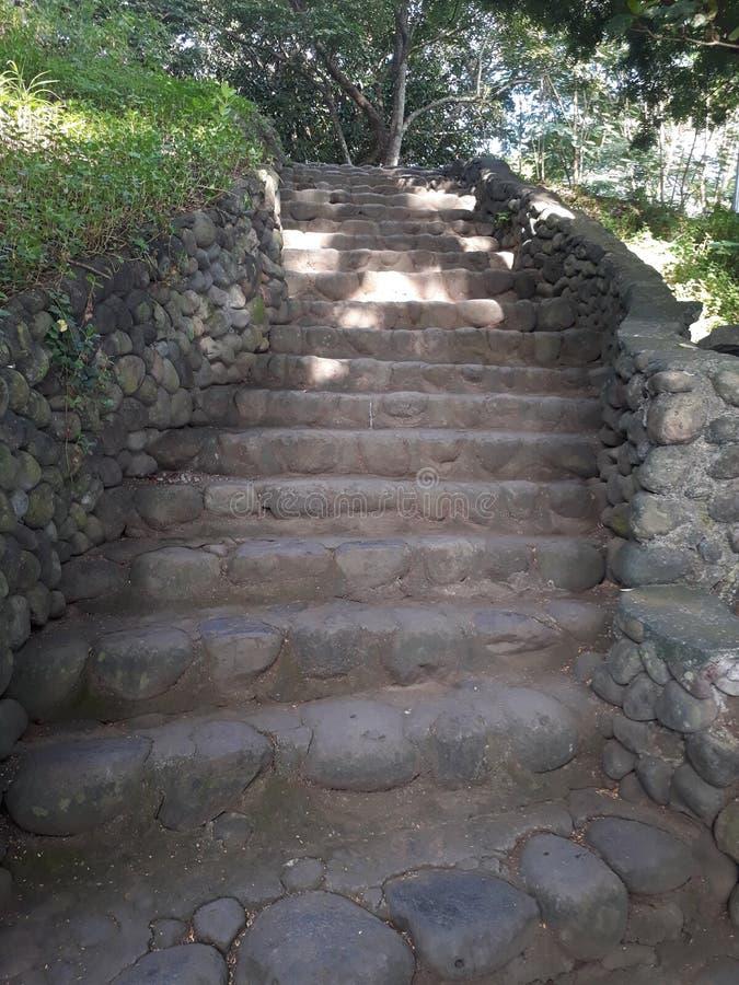 Stairway de pedra fotografia de stock