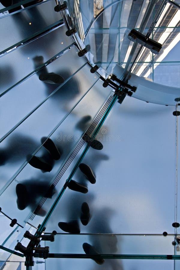 Stairway de vidro foto de stock royalty free