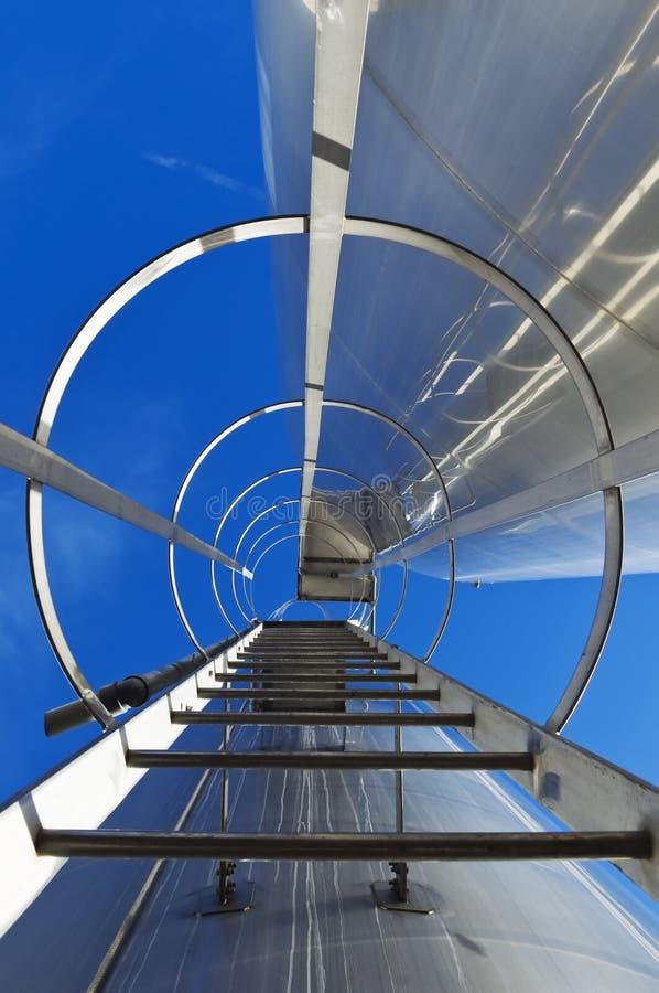 Stairway do aço inoxidável imagem de stock