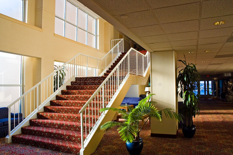 Stairway do hotel fotos de stock royalty free