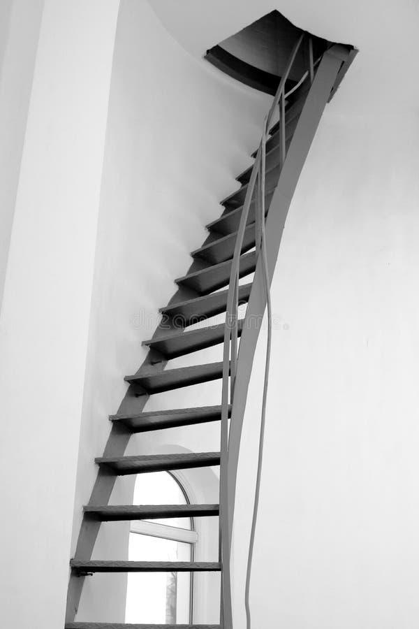 Stairway espiral imagens de stock royalty free