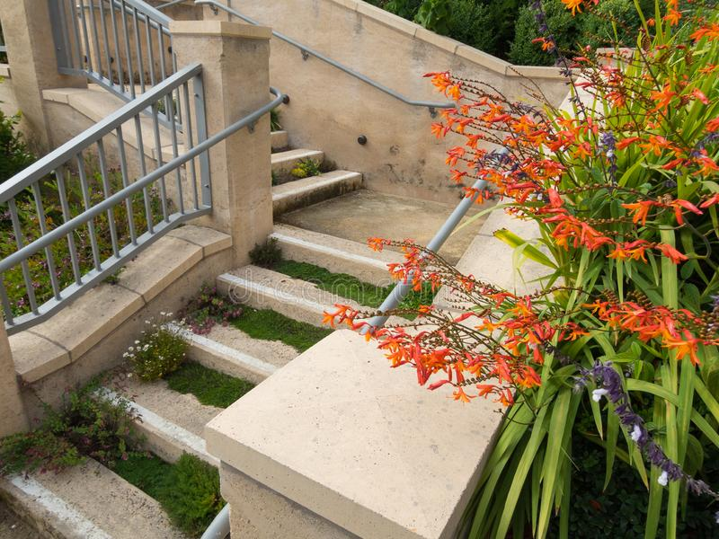 The stairway in the garden royalty free stock photography